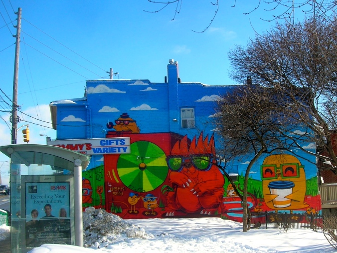 shop wall, east end, Columbus Parkette